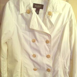 Jackets & Blazers - Eddie Bauer white Pea Coat. Rain repellent